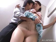 Hot And Kinky Asian Couple Fucks On The Stairs Hardcore