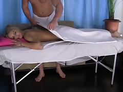 Lewd bimbo Jenny is moaning from the massage hardcore