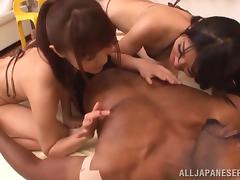 Japanese, Asian, Cowgirl, Ffm, Group, Hairy