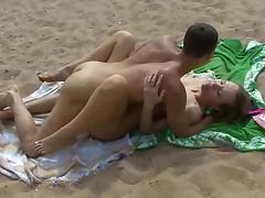 Couple, Beach, Couple, Fucking, Kissing, Nudist