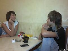Amateur Cuckold Scene as She Fucks a Stranger in Front of Her Man