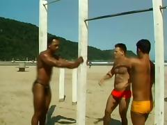 Gay Studs Get Horny In The Beach And End Up Fucking