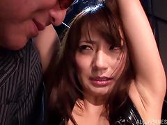 BDSM fun with the horny Asian babe Saki Kouzai