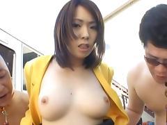 Public Sex With Ringo Kurenai Taking On Tons Of Guys