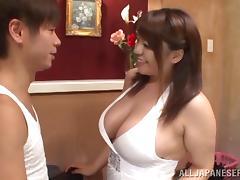 Sizzling hot Japanese goddess Mizuki Ann blows cock