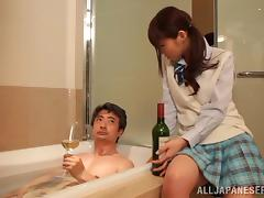 Exquisite Rei Aimi Goes Hardcore With A Nasty Old Man