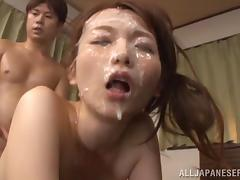 Japanese, Asian, Cum in Mouth, Cumshot, Doggystyle, Facial