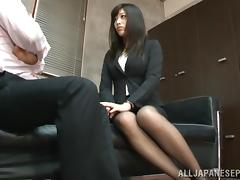 Sweet office babe Miku Sunohara in hardcore action