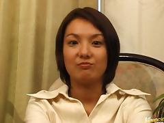 Tight MILF Mini Hirosue Gets Creampied In A Threesome