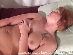 Bald Pussy Redhead Using Dildo Then Smoking Nice Gash