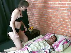 Horny man fucking with a fat bbw woman