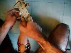 sperme sur sandale sloane marron