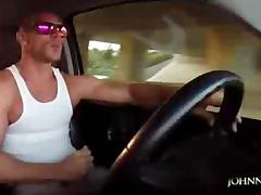 Johnny Sins - Driving and Jerking Off