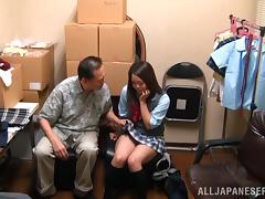 Teen Japanese Sweetie For A Hardcore Threesome In Miniskirt