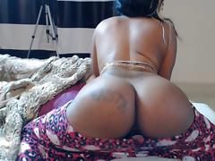 Black girl with juicy ass teasing on webcam