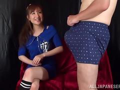 Asian hottie is fucked silly by a horny old man