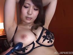 Sexy Asian Babe With Yummy Natural Tits Gets Her Pussy And Ass Toyed