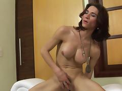 Anal games with shemale Adriana Rodrigues