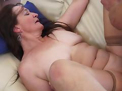 Mature bitch Anna H gets her asshole smashed after giving a blowjob