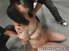 Naughty Slave Tied Up and Punished in a BDSM Dungeon