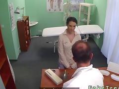 Office, Amateur, Boobs, Brunette, Doctor, Hospital