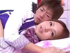 Yukina Momota hot teen in school uniform gets poked