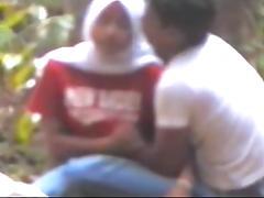 malay- tudung hijab lepas rindu dalam hutan