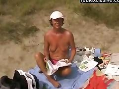 Beach sex with a Mature Belgian cougar