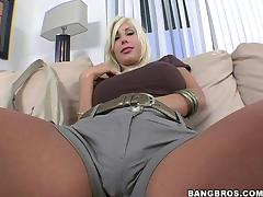 Beautiful Blonde Cougar With Massive Fake Tits Enjoying A Hardcore Doggy Style Fuck