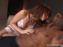 Claire Hasumi Gets Her Pussy Drilled Hardcore With A Big Black Cock