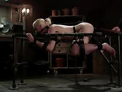 milky white blonde exploited to her limits