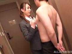 Japanese Office Lady In Miniskirt Enjoys A Hot Pussy Licking