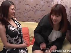 Miniskirt, Asian, Drilled, Hairy, Japanese, Lesbian