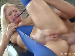 Anikka Albrite gets her oiled butt banged as hard as never