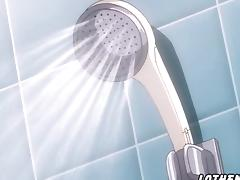 Hentai sex with friend in the bathroom