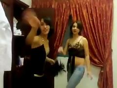 Arab crossdresser dance