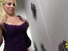 Christie Stevens shows her big tits and touches her nipples