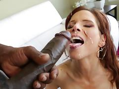 Syren De Mer welcomes a BBC in her holes and gets facialed hard