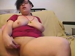 Enchanting Big Beautiful Woman masturbating for Web Camera two of two