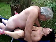 Old man dreams of fucking a young babe