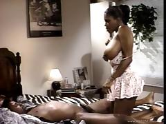 Fascinating Ebony With Big Tits Riding Huge Dick Hardcore Doggystyle