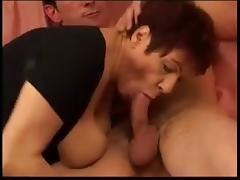 Indecent French Mature  fucks Dildo and hard cock