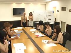 Naughty asian office hottie Yurie Matsushima gets fucked at work