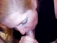 Wife gives a quick BJ to her hubby previous to her sexy date