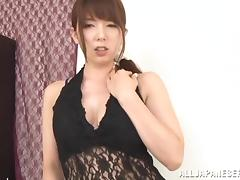 Chubby Asian Yui Hatano enjoys toying her hot pussy