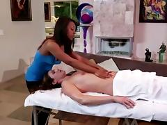 Leilani And Samantha Start Out With Massage It Turns Naughty
