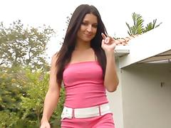 Ann Marie Rios outdoor handjob