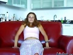 Jessica sucks a cock and the dude loves her style