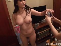 japanese babes with natural tits get drunk and fucked hardcore