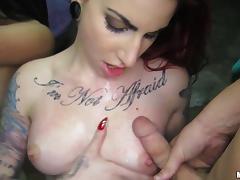 Brianna Bella and Sheena Rose receives a hot cumshot load